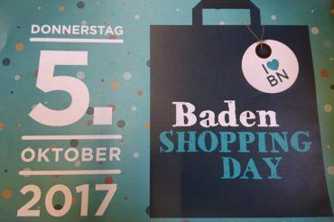 Baden SHOPPING DAY  5.Oktober….wir sind dabei